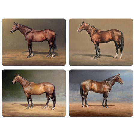 Susan Crawford Race Horse Table Mats - Set 2 - club matters