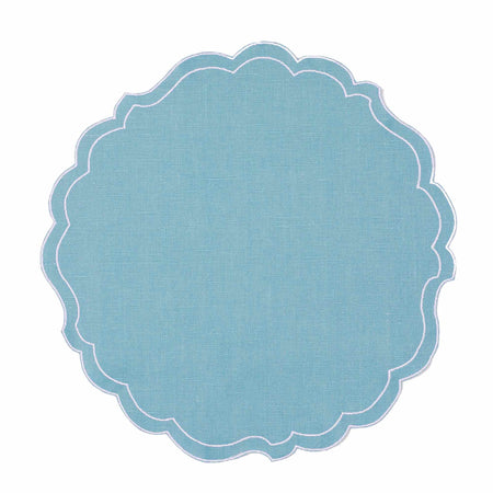 Tiree Waxed Italian Linen Placemat - Teal - club matters