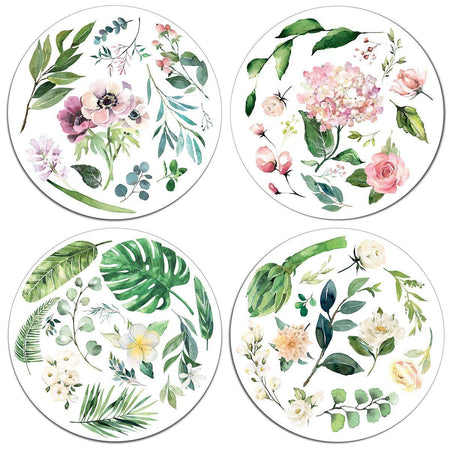 White Florals Table Mats - club matters
