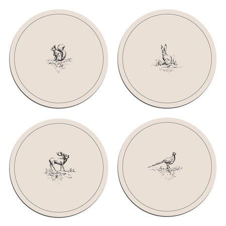 Woodland Animals Coasters - club matters