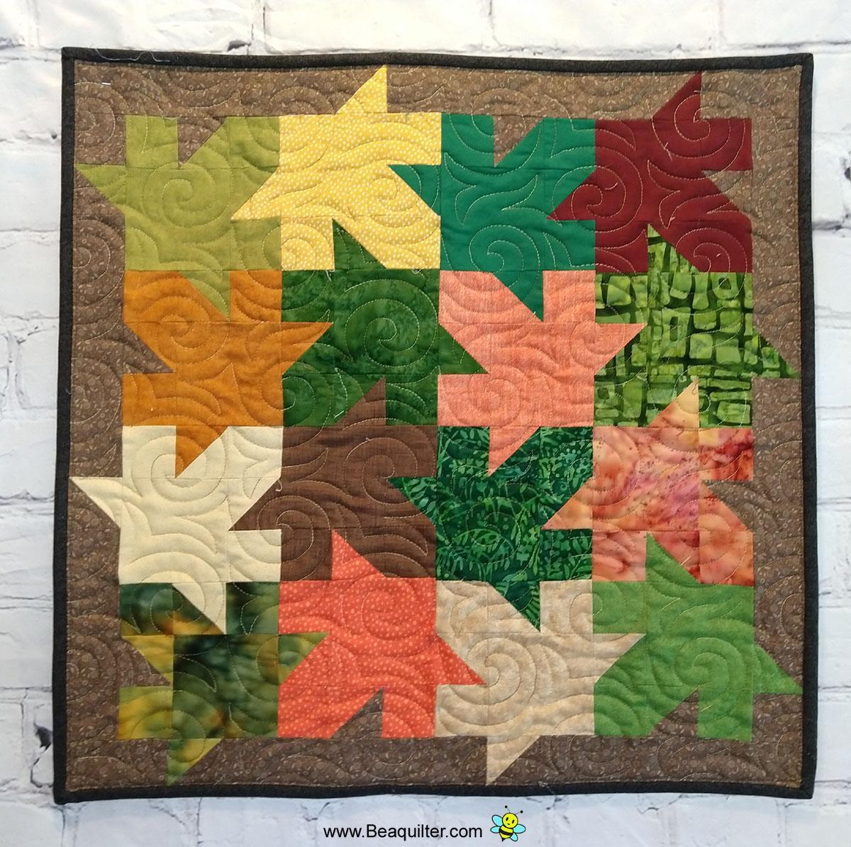 Interlocking Leaves Quilt Pattern