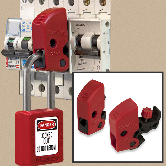 Master Lock S2394 Miniature Circuit Breaker Lockout, Tool Free Universal Fit-Other Security Device-MasterLocks.com