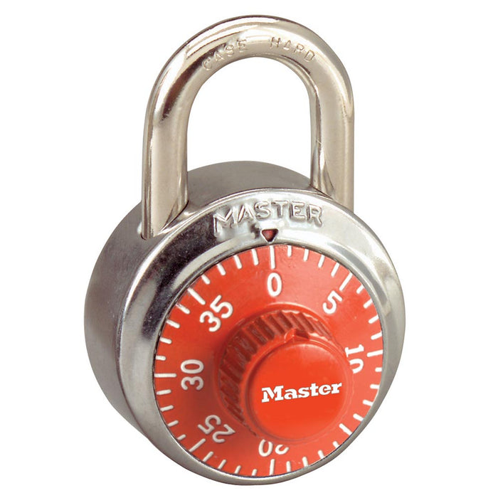 Master Lock 1502 General Security Combination Padlock with Colored Dial 1-7/8in (48mm) Wide