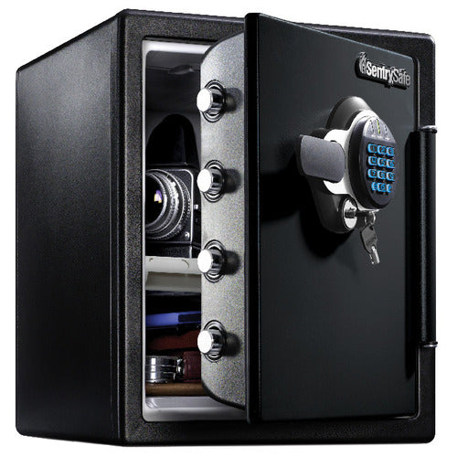 Sentry® Safe SFW123GTC Fire Water Safe, Digital Lock w/ Backlit Keypad/Dual Key, Tray, Bolt Down Kit, Light, 1.2 cu. ft.