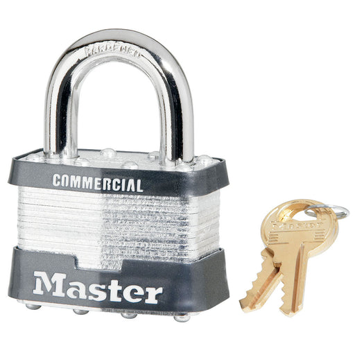 Master Lock 25 Laminated Steel Rekeyable Padlock 2in (51mm) Wide-Keyed-MasterLocks.com