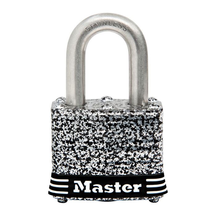 Master Lock 3SSKAD 1-9/16in (40mm) Wide Laminated Stainless Steel Padlock with 3/4in (19mm) Shackle