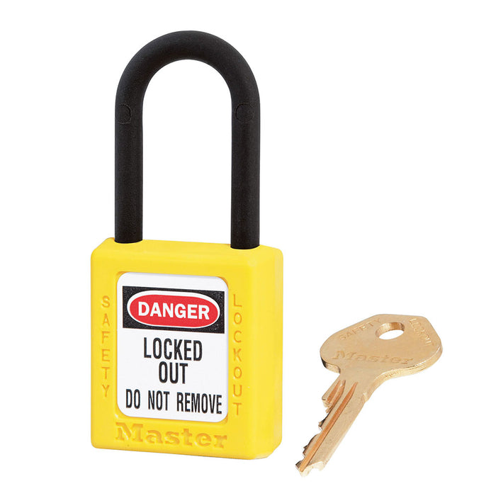 Master Lock 406 Dielectric Zenex™ Thermoplastic Safety Padlock, 1-1/2in (38mm) Wide with 1-1/2in (38mm) Tall Nylon Shackle-Keyed-MasterLocks.com