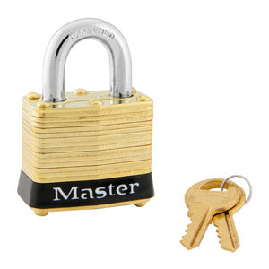 Master Lock 4 Laminated Brass Padlock 1-9/16in (40mm) Wide