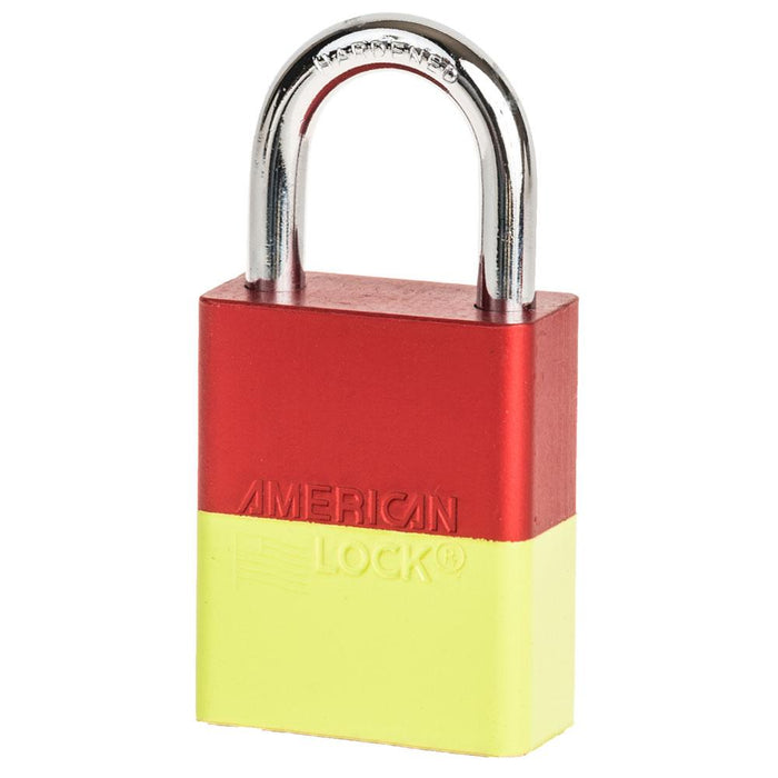 American Lock A1105 Anodized Aluminum Safety Padlock, 1-1/2in (38mm) Wide with 1in (25mm) Tall Shackle-Keyed-MasterLocks.com