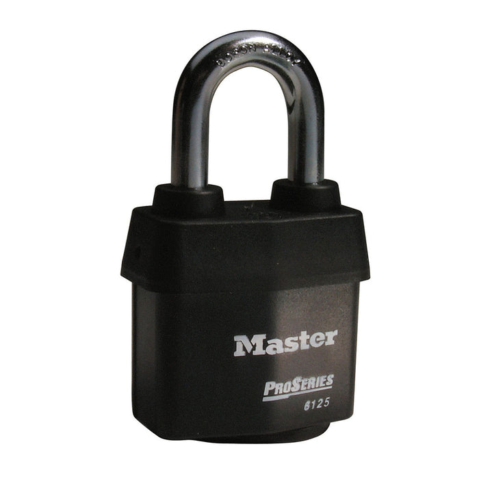 Master Lock 6125 ProSeries® Weather Tough® Laminated Steel Rekeyable Padlock 2-3/8in (60mm) Wide-Keyed-MasterLocks.com