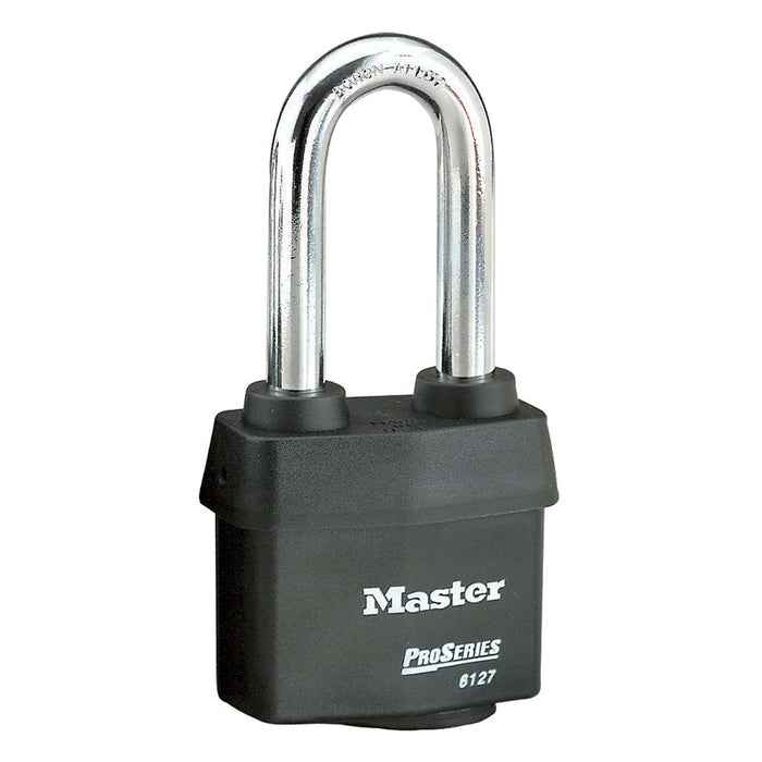 Master Lock 6127 ProSeries® Weather Tough® Laminated Steel Rekeyable Padlock 2-5/8in (67mm) Wide