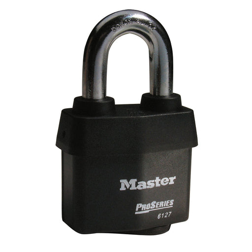 Master Lock 6127 ProSeries® Weather Tough® Laminated Steel Rekeyable Padlock 2-5/8in (67mm) Wide-Keyed-MasterLocks.com