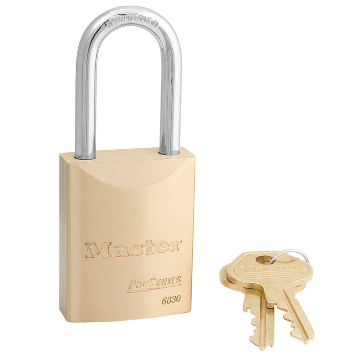 Master Lock 6830 ProSeries® Solid Brass Rekeyable Padlock 1-9/16in (40mm) Wide