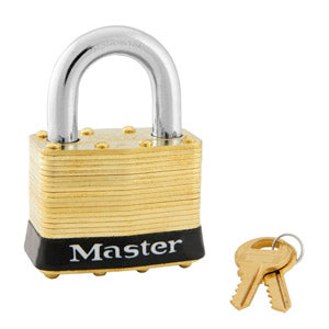 Master Lock 6 Laminated Brass Padlock 2in (51mm) Wide-Keyed-MasterLocks.com