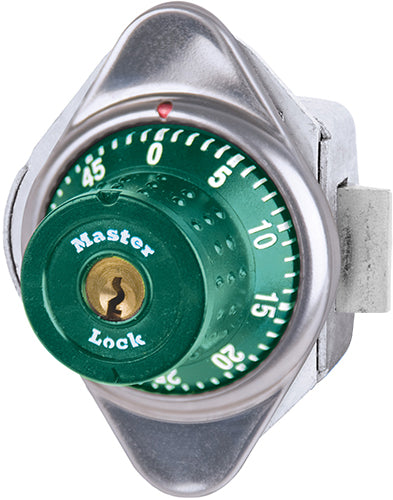 Master Lock 1655MD Built-In Combination Lock with Metal Dial for Horizontal Latch Box Lockers - Hinged on Left