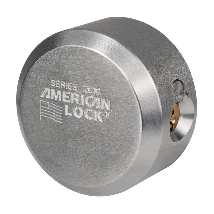 American Lock A2010 Solid Steel Rekeyable 6-Flat Back Hidden Shackle Padlock 2-7/8in (73mm) Wide