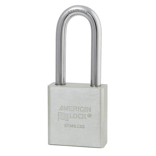 American Lock A5401 1-3/4in (44mm) Solid Stainless Steel Padlock with 2in (51mm) Shackle-Keyed-MasterLocks.com