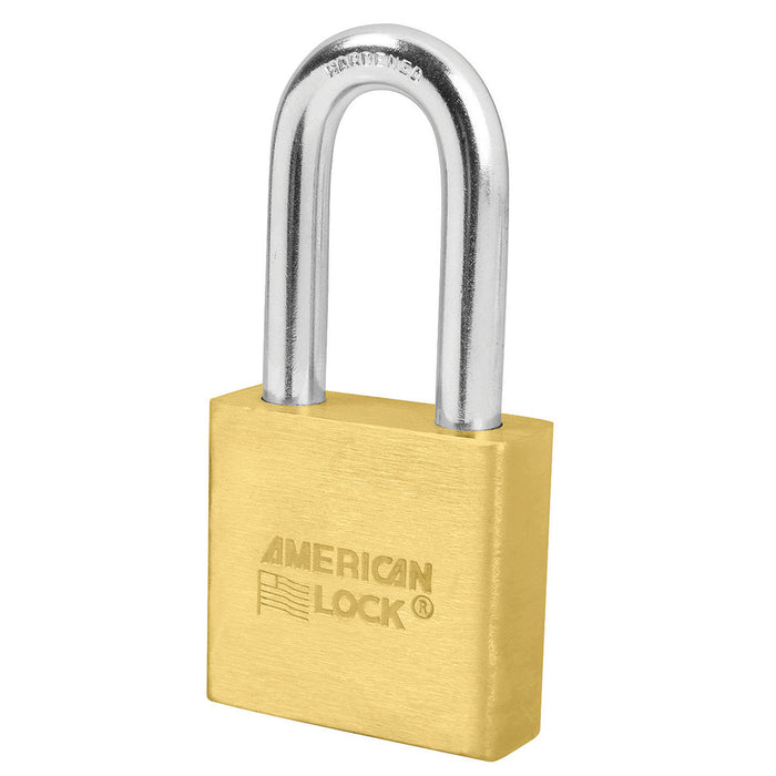 Model No. A6571 2in (51mm) Solid Brass 6-Padlock with 2in (51mm) Shackle, Keyed Alike