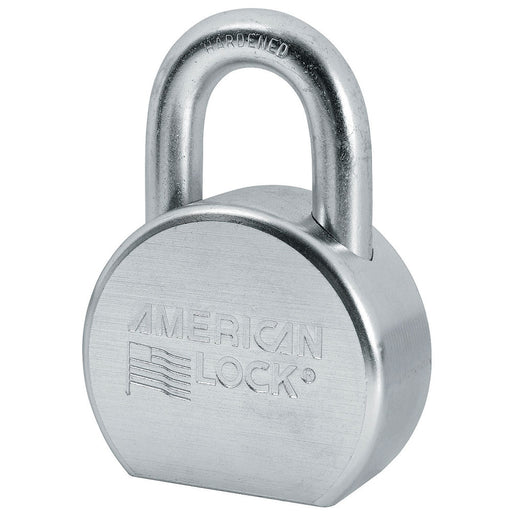American Lock A702 Solid Steel Rekeyable Padlock, Zinc Plated 2-1/2in (64mm) Wide-Keyed-MasterLocks.com