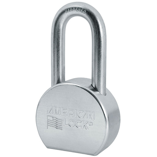 American Lock A703 2-1/2in (64mm) Solid Steel Rekeyable Padlock, Zinc Plated, with 2in (51mm) Shackle-Keyed-MasterLocks.com
