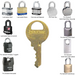 Master Lock K1 Duplicate Cut Key for W1 Cylinders (Lock Model Numbers 1 - 6)-Cut Key-MasterLocks.com