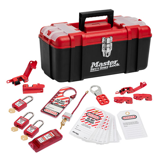 Master Lock 1457E410 Personal Safety Lockout Pouch, Electrical Focus with Zenex™ Thermoplastic Padlocks-Keyed-MasterLocks.com