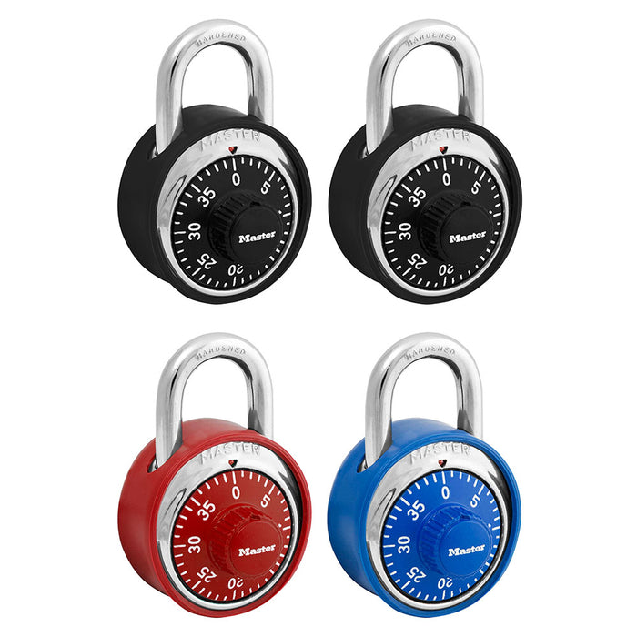 Master Lock 1503DCOV Combination Dial Padlock with Matching Scratch Guard Bumper; Assorted Colors 1-7/8in (48mm) Wide