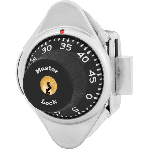 Master Lock 1631MD Built-In Combination Lock with Metal Dial for Lift Handle Lockers - Hinged on Left-MasterLocks.com