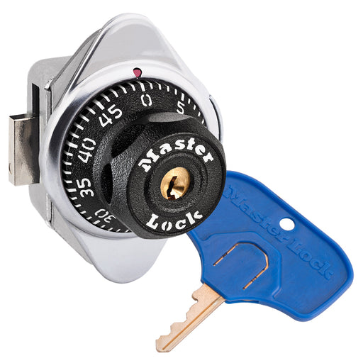 Master Lock 1636MKADA ADA Compliant Built-In Combination Lock with Metal Dial for Lift Handle Lockers - Hinged on Right-Combination-MasterLocks.com