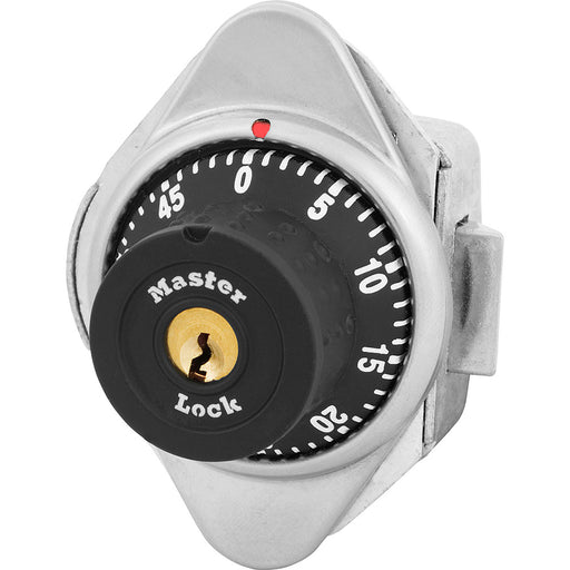 Master Lock 1655MD Built-In Combination Lock with Metal Dial for Horizontal Latch Box Lockers - Hinged on Left-MasterLocks.com