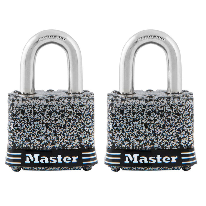 Master Lock 380T Rust-Oleum® Certified Laminated Steel Padlock; 2 Pack 1-9/16in (40mm) Wide