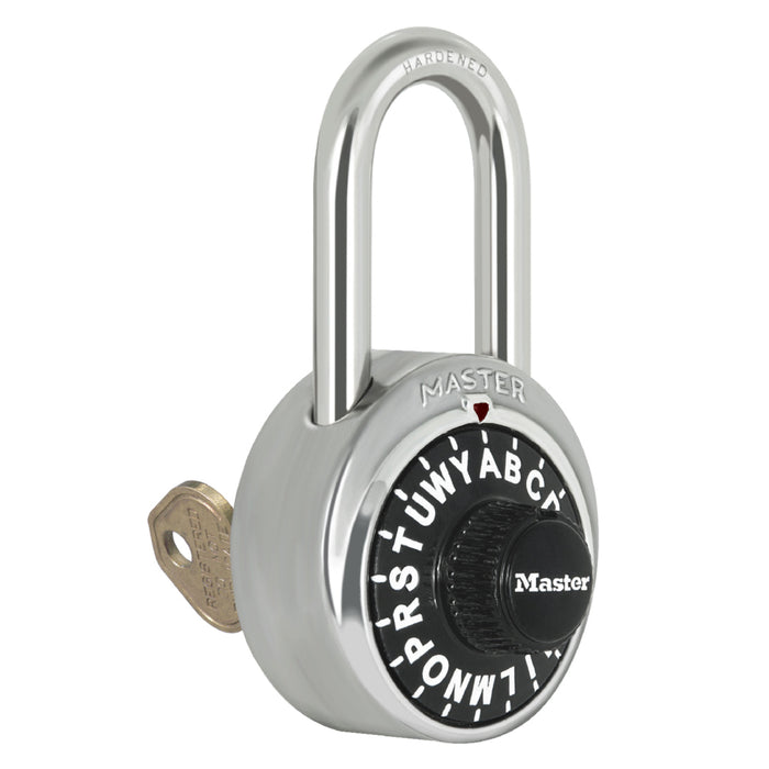 Master Lock 1585 General Security Combination Padlock with Control Key 1-7/8in (48mm) Wide-Combination-MasterLocks.com