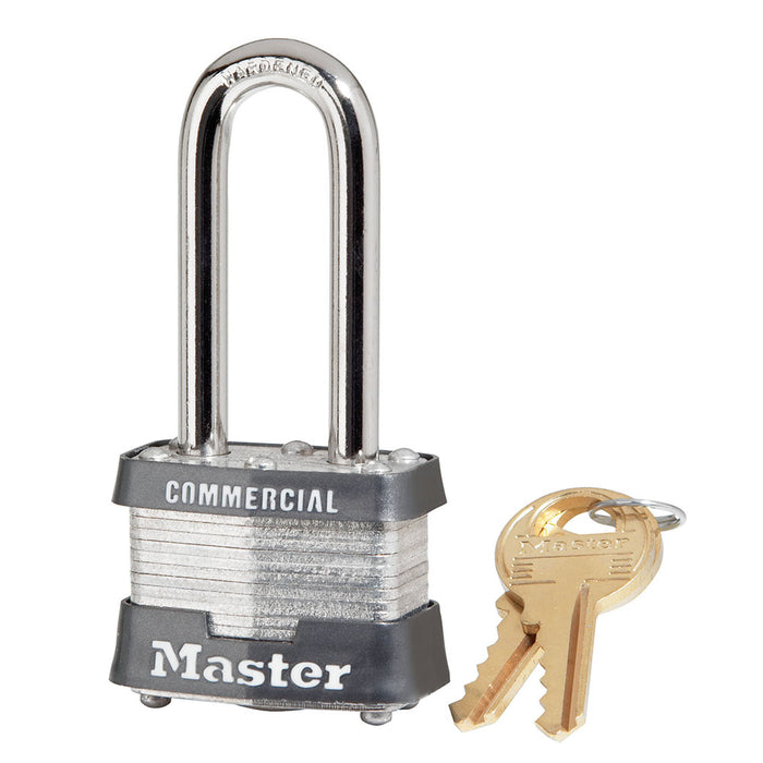 Master Lock 3DLHCOM 1-9/16in (40mm) Wide Laminated Steel Padlock with 2in (51mm) Shackle