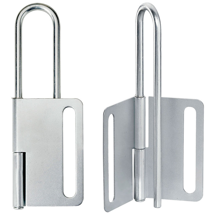 Master Lock 419 Steel Heavy Duty Lockout Hasp, Jaw Clearance 3in (76mm) Wide