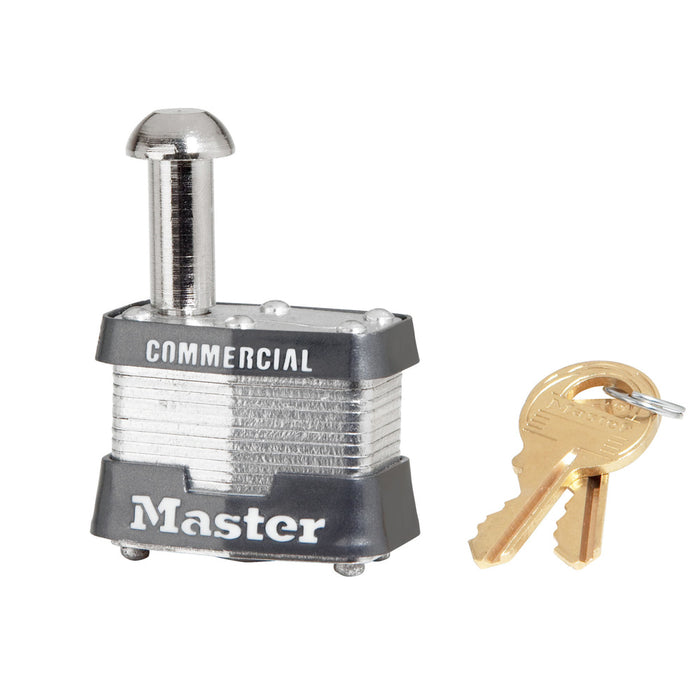 Master Lock 443 1-9/16in (40mm) Wide Laminated Steel Pin Tumbler Vending and Meter Padlock-Keyed-MasterLocks.com
