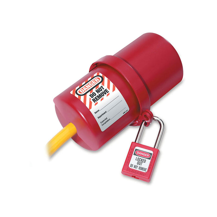 Master Lock 488 Rotating Large Electrical Plug Lockout, 220-550 Volt Plugs-Other Security Device-MasterLocks.com