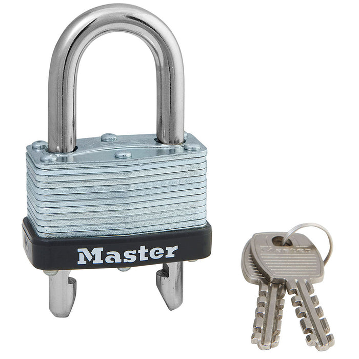 Master Lock 510D Laminated Steel Warded Padlock with Adjustable Shackle 1-3/4in (44mm) Wide-Keyed-MasterLocks.com