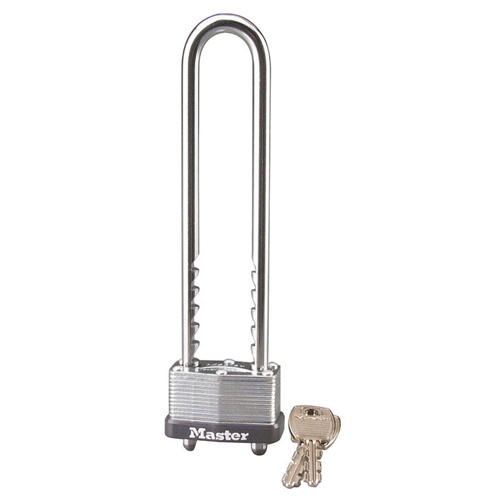 Master Lock 517D Laminated Steel Warded Padlock with Adjustable Shackle 1-3/4in (44mm) Wide-Keyed-MasterLocks.com
