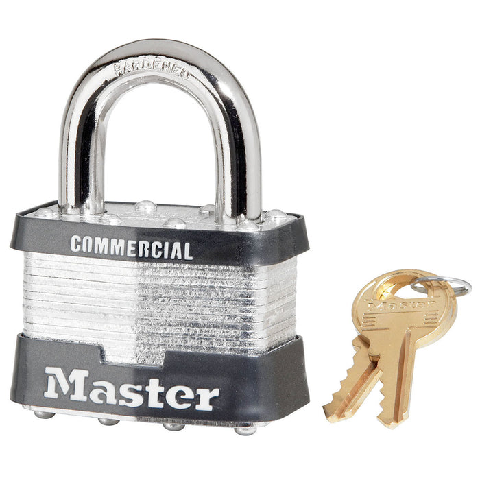 Master Lock 5 Laminated Steel Padlock, Keyed Alike 2in (51mm) Wide