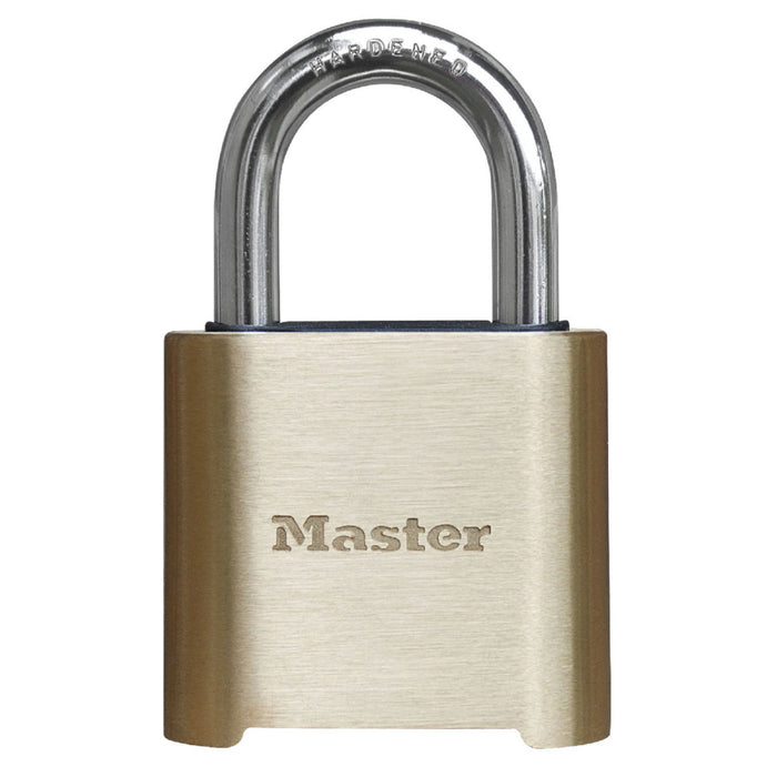 Master Lock 975DCOM Resettable Combination Brass Padlock 2in (51mm) Wide-Combination-MasterLocks.com