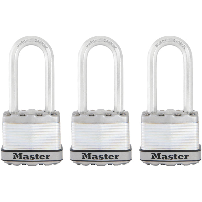 Master Lock M1XTRI 1-3/4in (44mm) Wide Magnum® Laminated Steel Padlock ; 3 Pack-MasterLocks.com