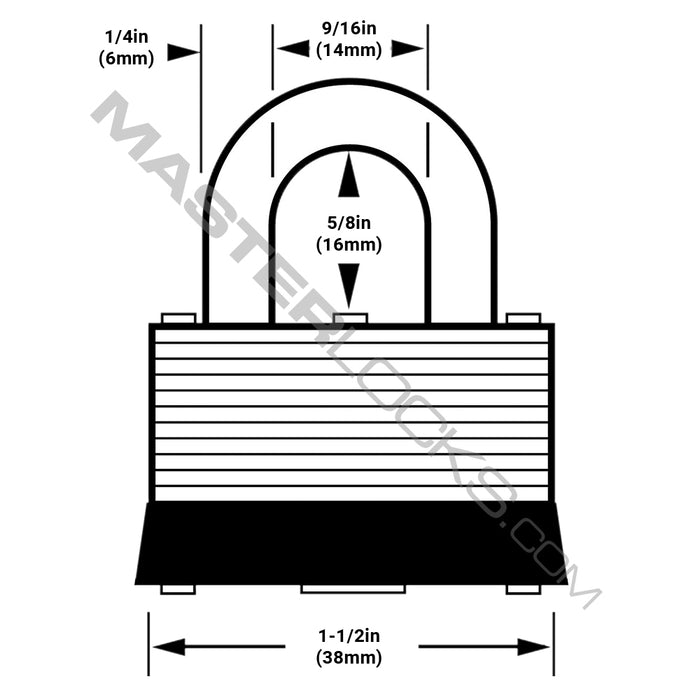 Master Lock 22 Laminated Steel Warded Padlock 1-1/2in (38mm) Wide