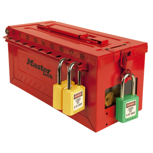Master Lock S600 Portable group lockout box with key window-MasterLocks.com