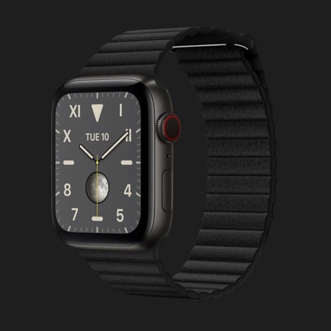 Apple Watch Titanium with Apple Watch Band Leather Loop