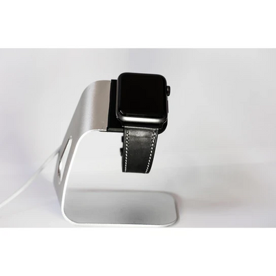 Black French Calf Leather Apple Watch Band - Standout Bands