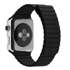 Black Leather Loop Apple Watch Band - Standout Bands