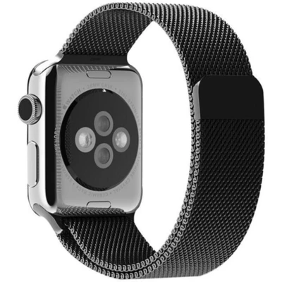 Black Milanese Apple Watch Band - Standout Bands