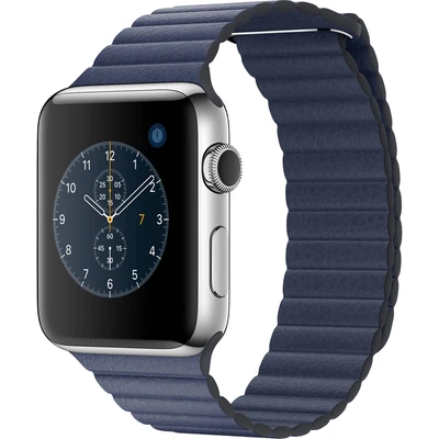 Blue Leather Loop Apple Watch Band - Standout Bands