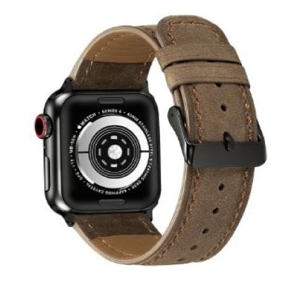 Ghost Calf Leather Apple Watch Band - Standout Bands