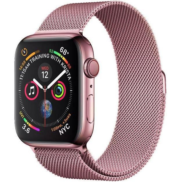 Rose Gold Milanese Apple Watch Band